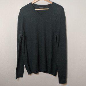 Banana Republic Gray V-Neck Sweatshirt XL